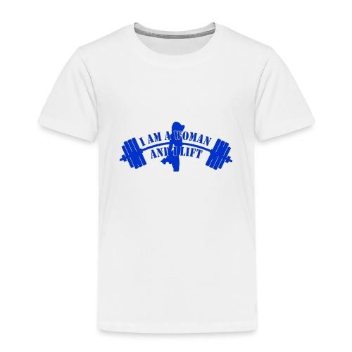 Bending-Barbell-blue - Kids' Premium T-Shirt