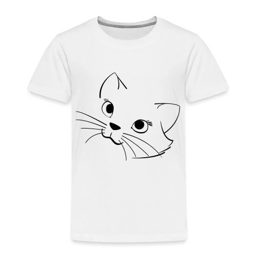 En söt katt - Premium-T-shirt barn