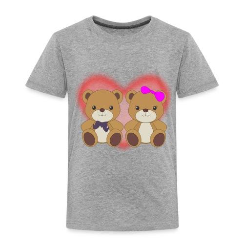 Orsetti con cuore - Maglietta Premium per bambini