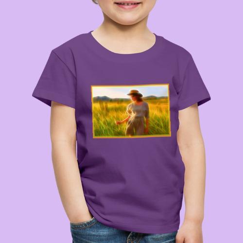 Donna tra gli steli d' erba - Maglietta Premium per bambini