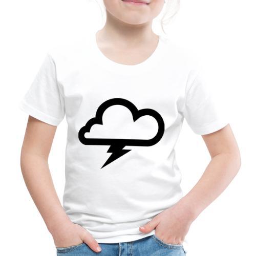 Wolke mit Blitz - Kinder Premium T-Shirt