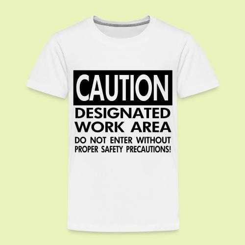 Caution work area - Kinderen Premium T-shirt