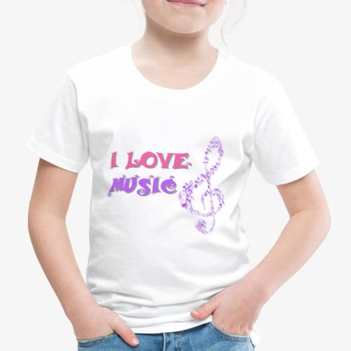 Love Music - Camiseta premium niño