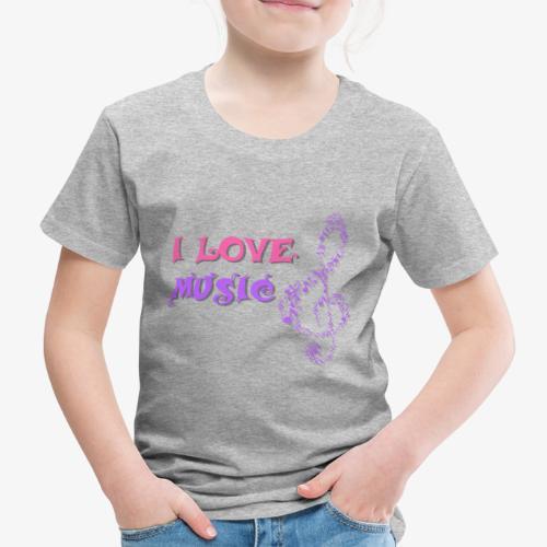 Love Music - Camiseta premium niño