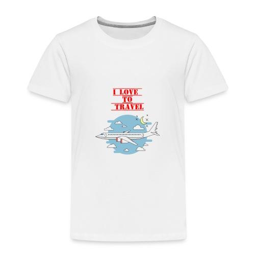 I Love To Travel - Maglietta Premium per bambini