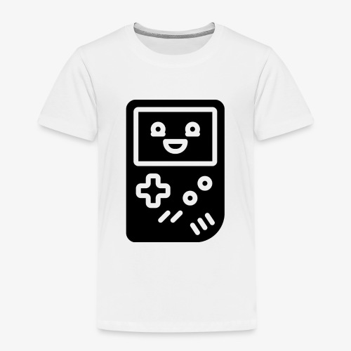 Smiling game console (black, inverted) - Kids' Premium T-Shirt
