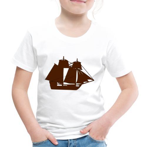 brown ship 3 - Kids' Premium T-Shirt