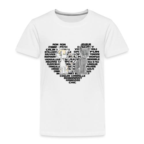 Cœur de chat noir - T-shirt Premium Enfant