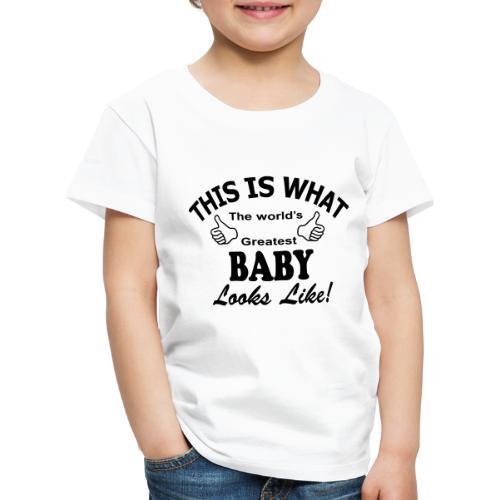 baby world's greatest - Kinderen Premium T-shirt