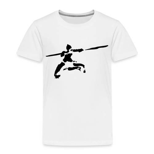 Kungfu stick fighter / ink - Kids' Premium T-Shirt