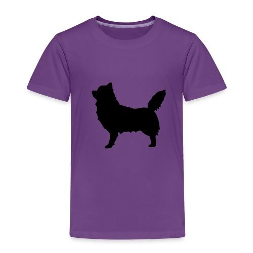 Chihuahua pitkakarva musta - Lasten premium t-paita