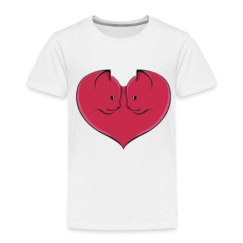 chat coeur - T-shirt Premium Enfant