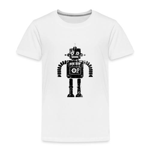 Distressed Retro Toy Robot - Kids' Premium T-Shirt