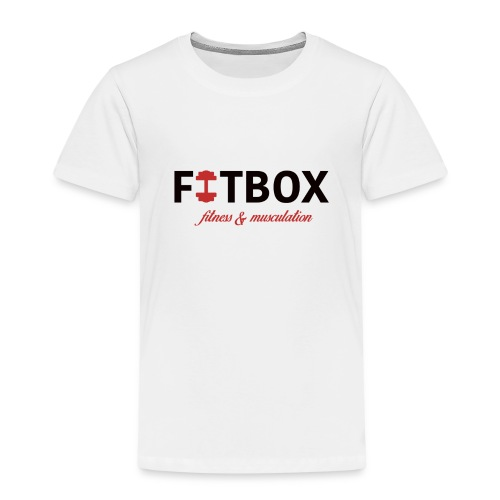 fitbox logo blanc - T-shirt Premium Enfant