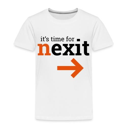its time for nexit logo in zwart oranje - Kinderen Premium T-shirt