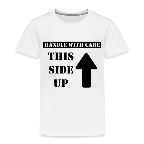 Handle with care / This side up - PrintShirt.at - Kinder Premium T-Shirt