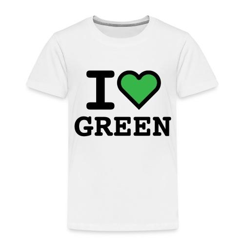 i-love-green-2.png - Maglietta Premium per bambini