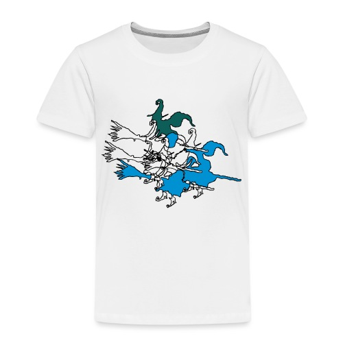 Witches on broomsticks Men's T-Shirt - Kids' Premium T-Shirt
