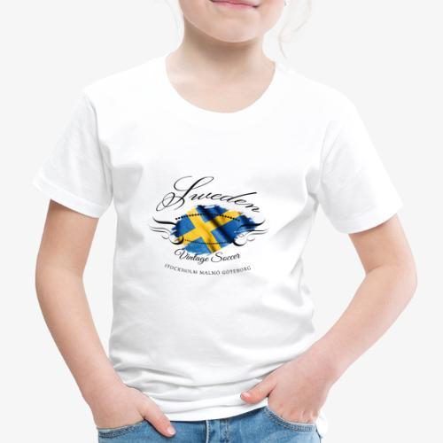 Vintage Sweden Flag - Kinder Premium T-Shirt