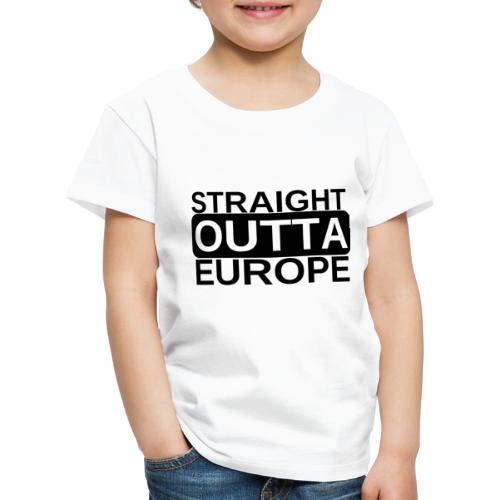 Leave EU Referendum Brexit T Shirt Straight Outta - Kids' Premium T-Shirt