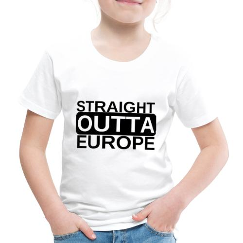 Leave EU Referendum Brexit T Shirt Straight Outta - Kids' Premium T-Shirt
