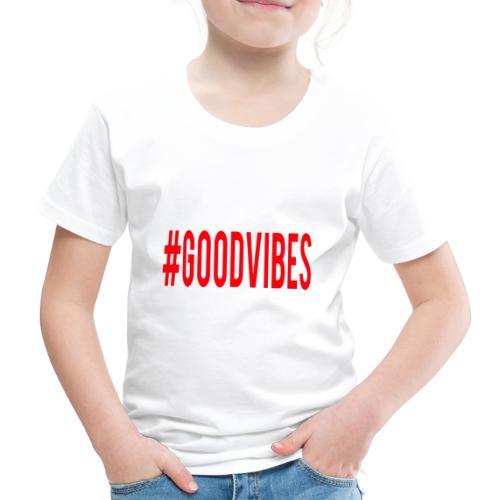 GOODVIBES_RED - Maglietta Premium per bambini