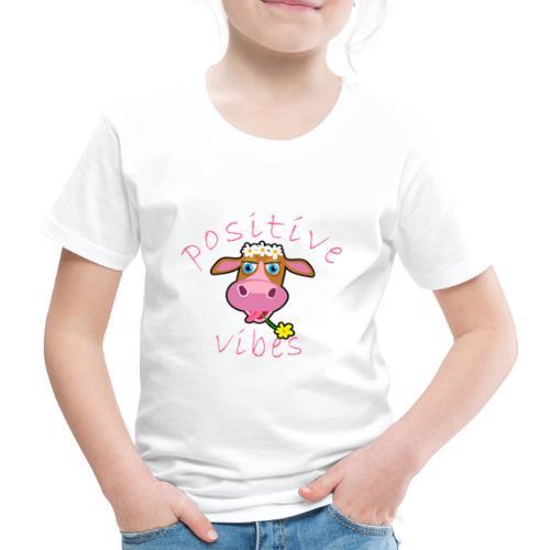 positive cow pink - Maglietta Premium per bambini
