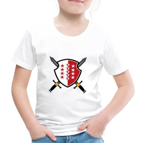 Valais avec épées - Kinder Premium T-Shirt