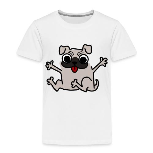 crazy pug - Kinder Premium T-Shirt