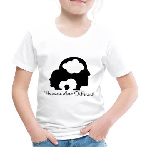 Humans are different schwarz - Kinder Premium T-Shirt