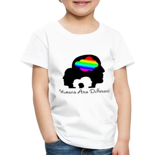 Humans are different Bunt - Kinder Premium T-Shirt