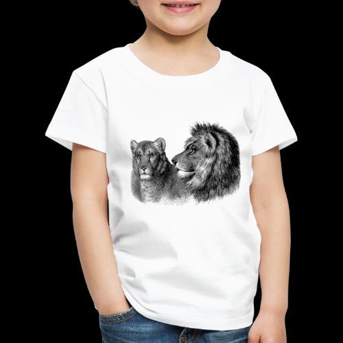 Löwenpaar - Kinder Premium T-Shirt