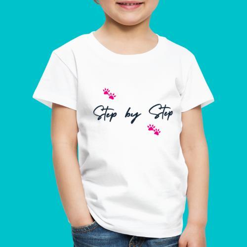 Step by Step (zampine rosa) - Maglietta Premium per bambini