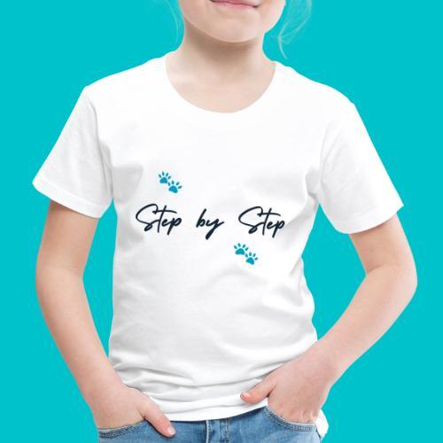 Step by Step (zampine azzurre) - Maglietta Premium per bambini