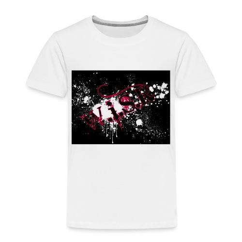 wisr puna musta splash t-paita - Lasten premium t-paita