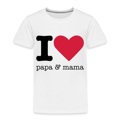 I Love Papa & Mama - Kinderen Premium T-shirt