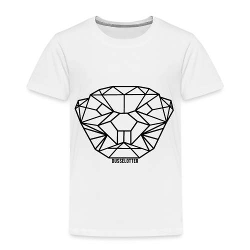 DusselOtter Logo schwarz - Kids' Premium T-Shirt