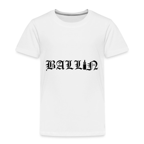 Ballin Black- Tupac Baby Inspired Tattoo - Kids' Premium T-Shirt