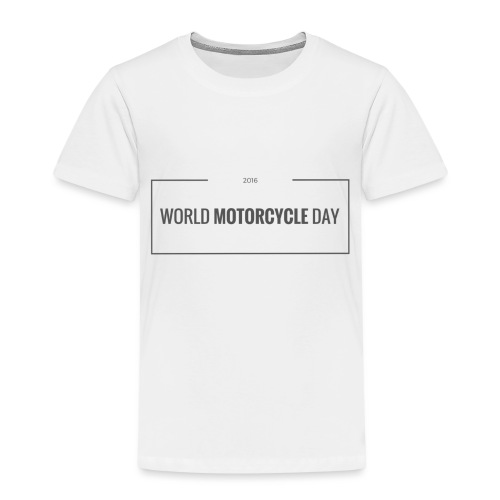 World Motorcycle Day 2016 Official T-Shirt ~ White - Kids' Premium T-Shirt