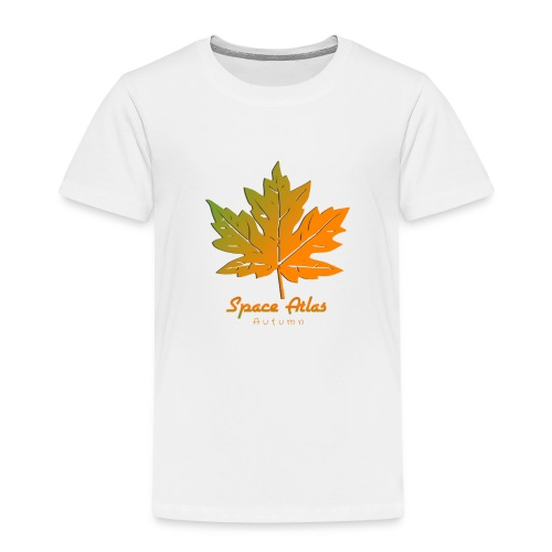 Space Atlas Long Sleeve T-shirt Autumn Leaves - Børne premium T-shirt