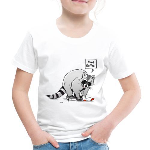 Kaffeetasse Need Coffee! - Kinder Premium T-Shirt