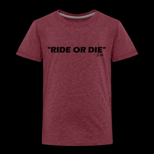 Ride or die (noir) - T-shirt Premium Enfant
