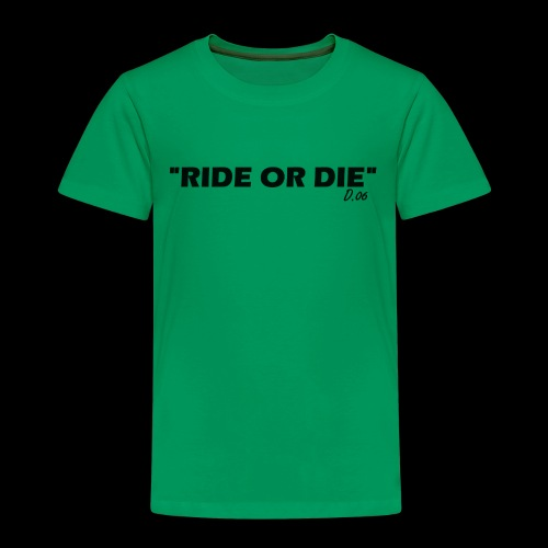 Ride or die (noir) - T-shirt Premium Enfant