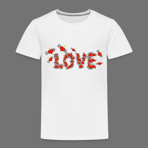 Flying Hearts LOVE - Kids' Premium T-Shirt