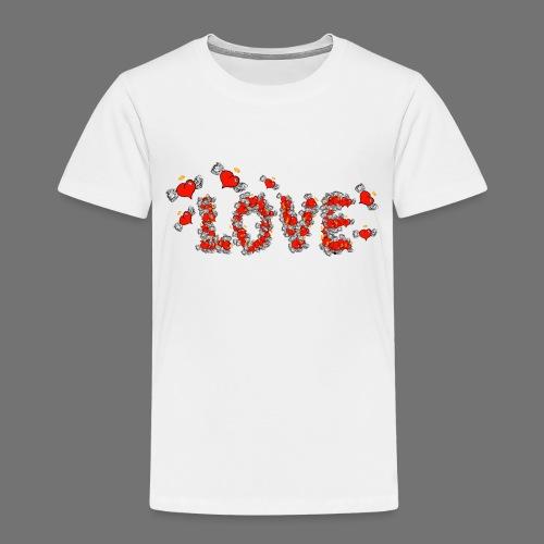 Latające miłości serc - Koszulka dziecięca Premium