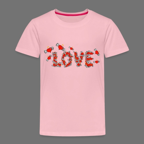 Flying Hearts LOVE - Børne premium T-shirt