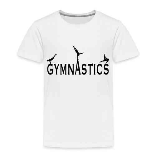 Male Gymnastics With Black Silhouttes - Kids' Premium T-Shirt