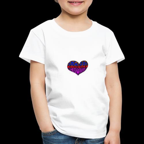 Herz Leben Welt Love you - Kinder Premium T-Shirt