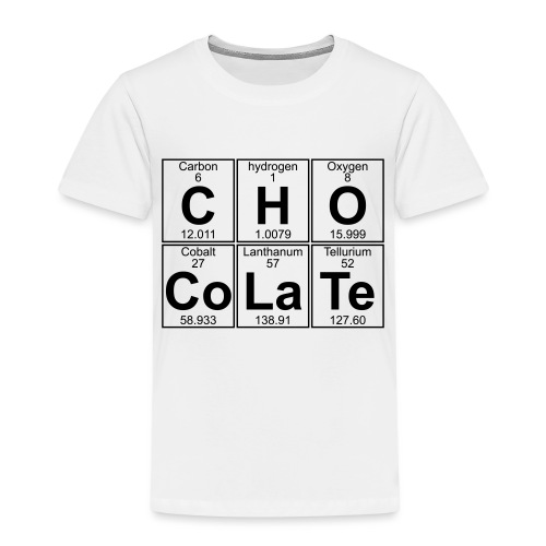 C-H-O-Co-La-Te (chocolate) - Full - Kids' Premium T-Shirt