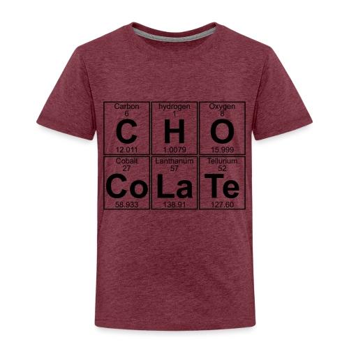 C-H-O-Co-La-Te (chocolate) - Full - Kids' Premium T-Shirt